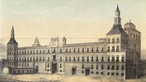 Pintura del Real Alcázar de Madrid hacia 1710